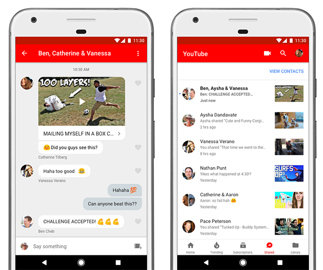 YouTube Now Lets You Share Videos Within the App