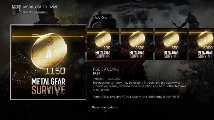 Metal Gear Survive dolazi sa jednim slotom za snimanje