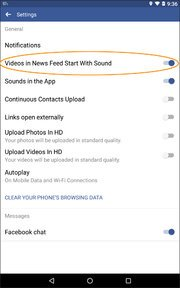 Switching to the Sound of Silence for Facebook Videos