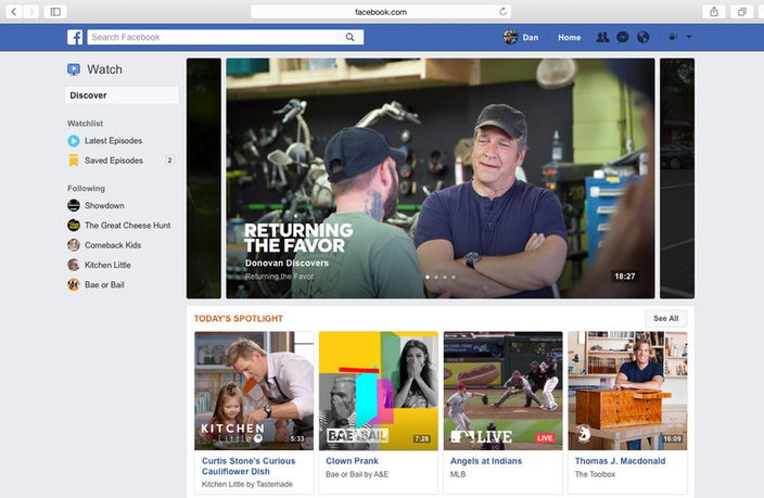 Facebook Introduces a Dedicated Home for Videos