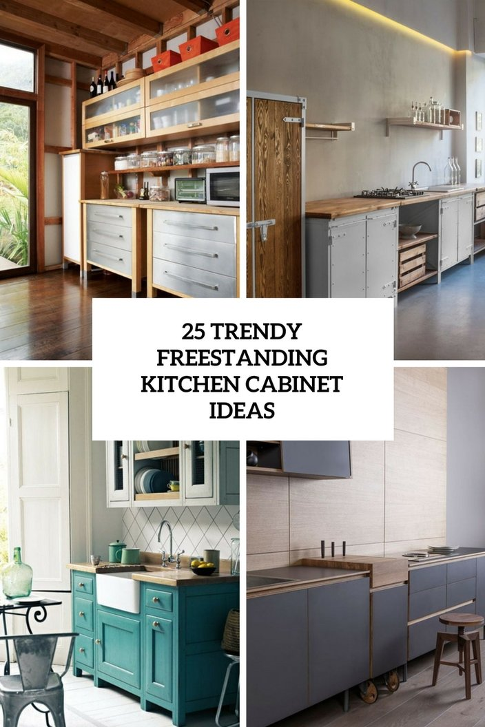Free Standing Kitchen Cabinets With Countertops 25 Trendy Freestanding Kitchen CabiIdeas   essentialsinside